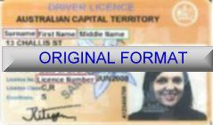 AUSTRALIAN CAPITAL TERRITORY DRIVER LICENSE ORIGINAL FORMAT, DESIGN SPECIFICATIONS, NOVELTY SECURITY CARD PROFILES, IDENTITY, NEW SOFTWARE ID SOFTWARE AUSTRALIAN CAPITAL TERRITORY driver
