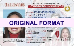 Illinois DRIVER LICENSE ORIGINAL FORMAT, DESIGN SPECIFICATIONS, NOVELTY SECURITY CARD PROFILES, IDENTITY, NEW SOFTWARE ID SOFTWARE Illinois driver