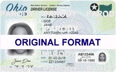 OHIO DRIVER LICENSE ORIGINAL FORMAT, DESIGN SPECIFICATIONS, NOVELTY SECURITY CARD PROFILES, IDENTITY, NEW SOFTWARE ID SOFTWARE OHIO driver
